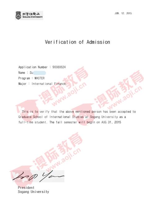 韩国西江大学offer