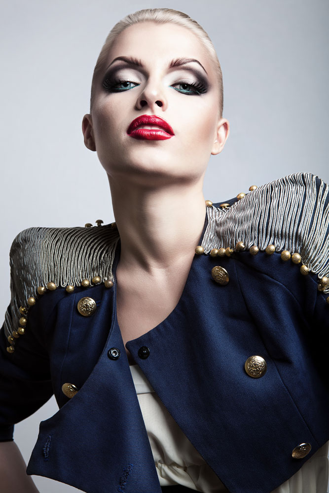外国化妆模特 手绘