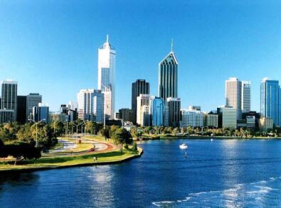 现代城市清新风景