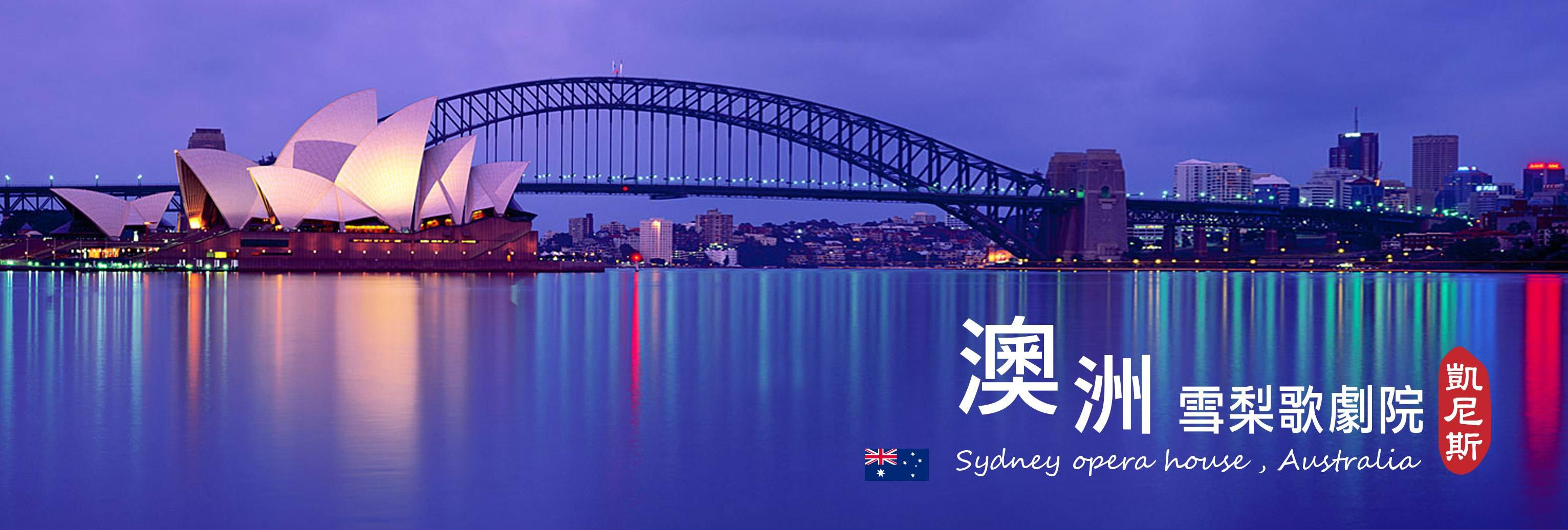 悉尼大桥风景背景图片