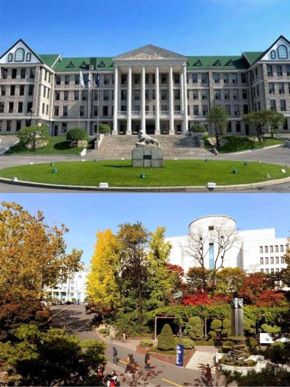 """校徽 汉阳大学的校徽设计为圆形,体现了为了全球化的进一步飞跃,将汉阳人的意志以圆形的形象化。上方英文""""HANYANG UNIVERSTY""""字样,象征着向着世界和未来前进的令人炫目的学校的进取气质和反映了世界的汉阳。 中间的韩文""""""""字样,象征着""""最棒""""和""""最大""""的""""""""字的轮廓,也是汉阳的最早的徽章缩小版,象征着汉阳徽章的代表性和意义以及建校以来,绵绵不断地汉阳的精神和坚实的基盘。标志"""
