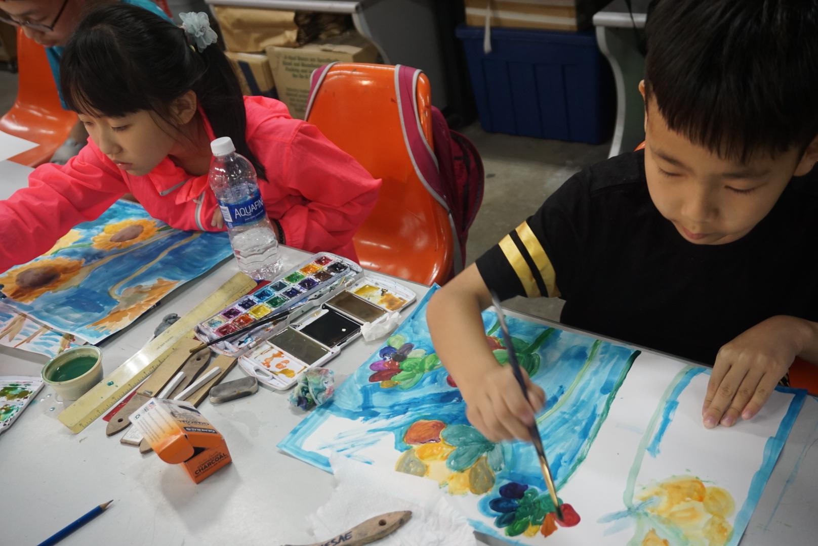 2017美國游學日記·洛杉磯中小學營之繪畫課